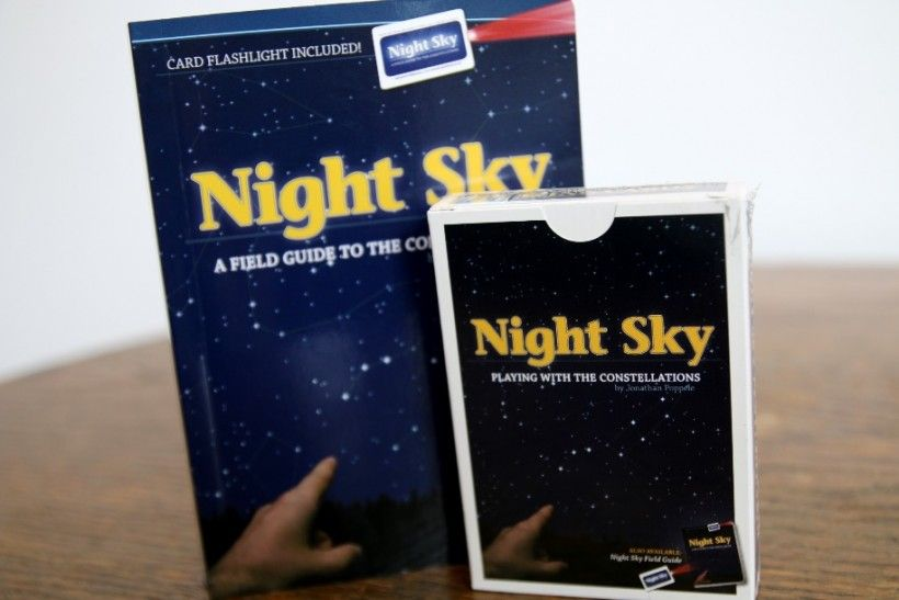 Night Sky guide book and companion playing cards featuring consellations