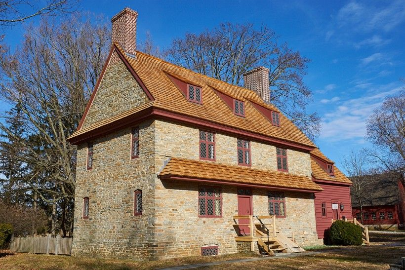 AFTER photo of the Brinton 1704 House. Photo credit: John Milner Architects, Inc.