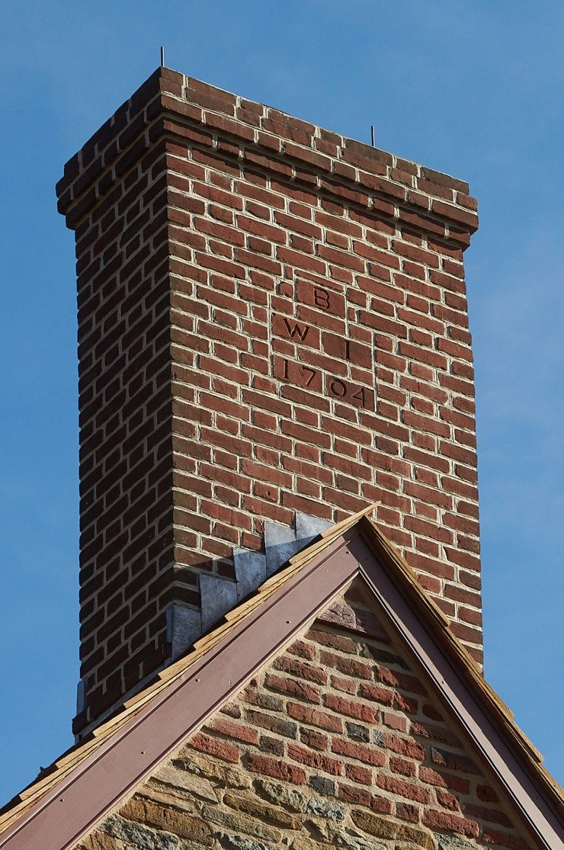 AFTER chimney repairs on the Brinton 1704 House