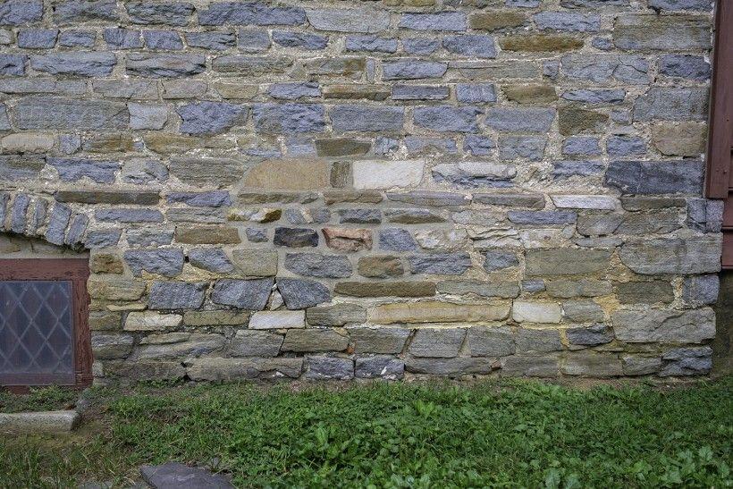 BEFORE photo of masonry repointing. Photo Credit: John Milner Architects, Inc.