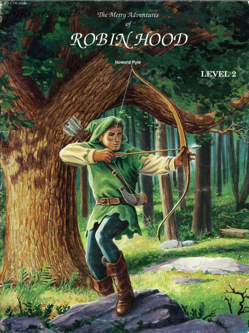 """This 1992 edition of Howard Pyle's Robin Hood was adapted by Jacqueline Nightingale and edited by Laura M. Machynski for EDCON's """"Bring the Classics to Life"""" series."""