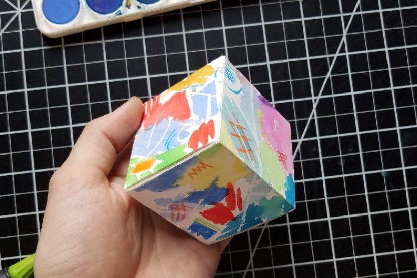 paper platonic solids - step 10