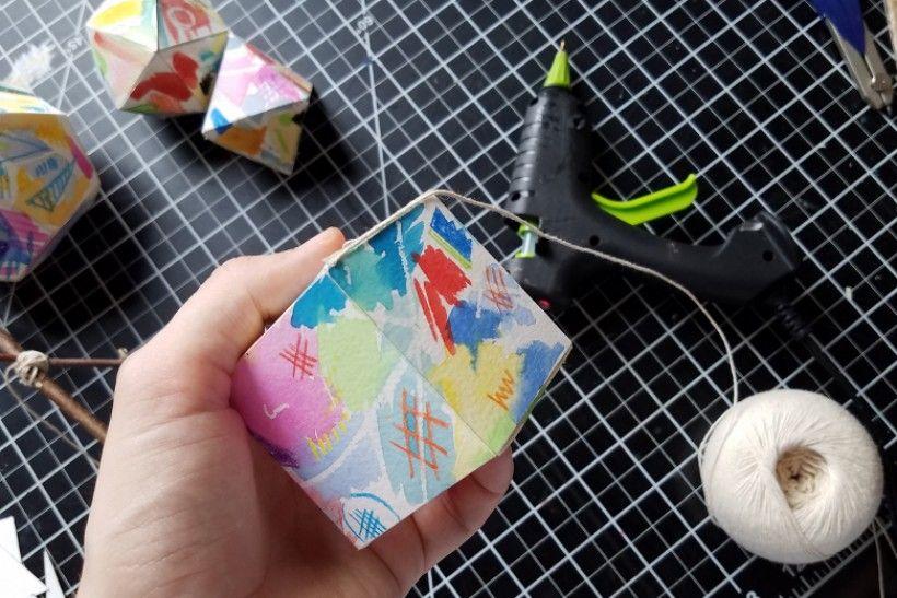 paper platonic solids - step 12