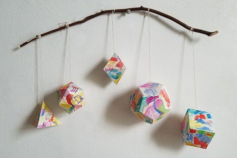 paper platonic solids - step 13