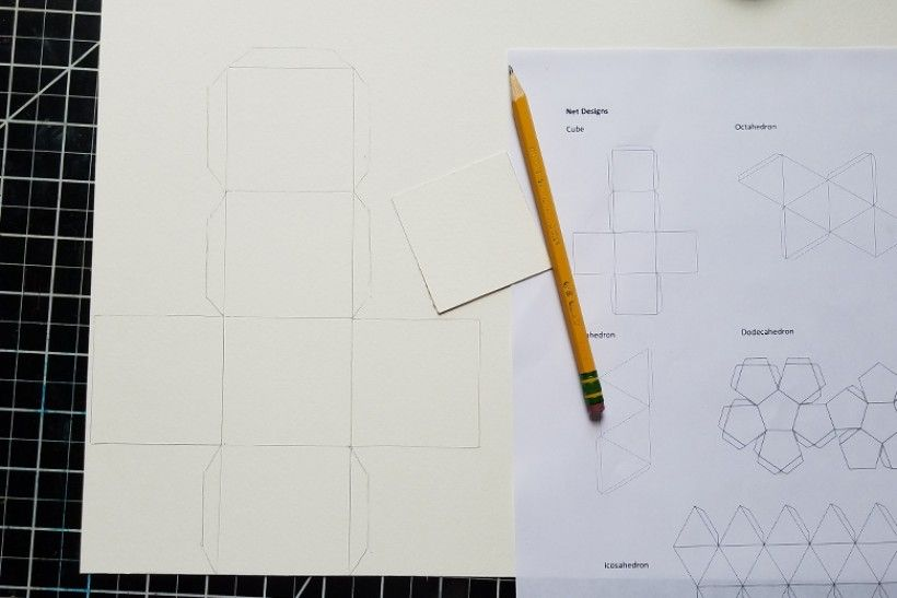 paper platonic solids - step 4