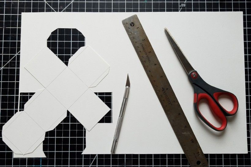 paper platonic solids - step 5