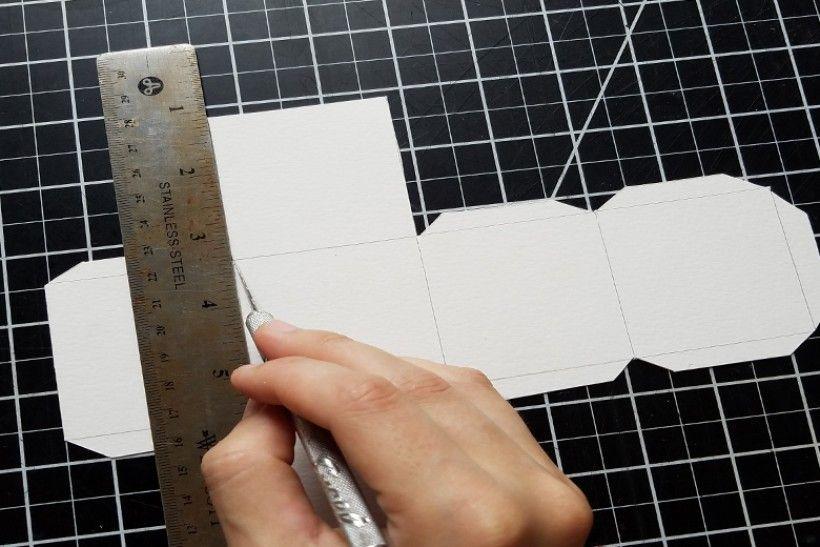 paper platonic solids - step 6