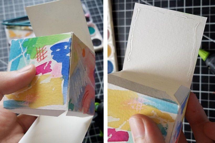 paper platonic solids - step 9