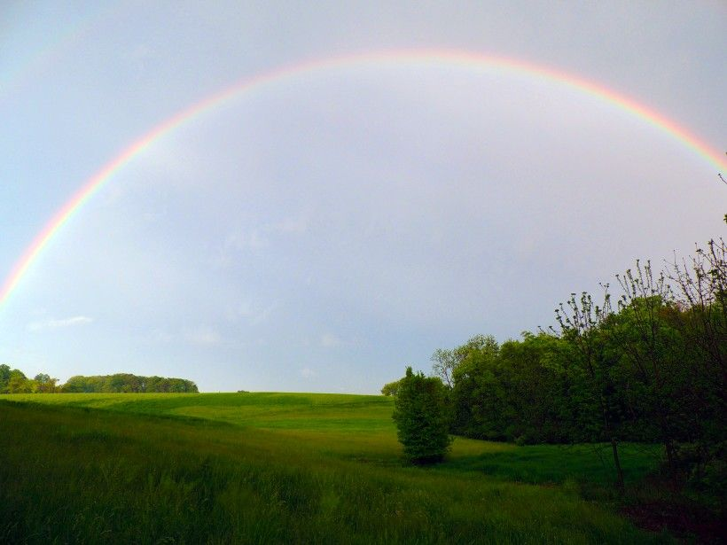 Rainbow over King Ranch lands