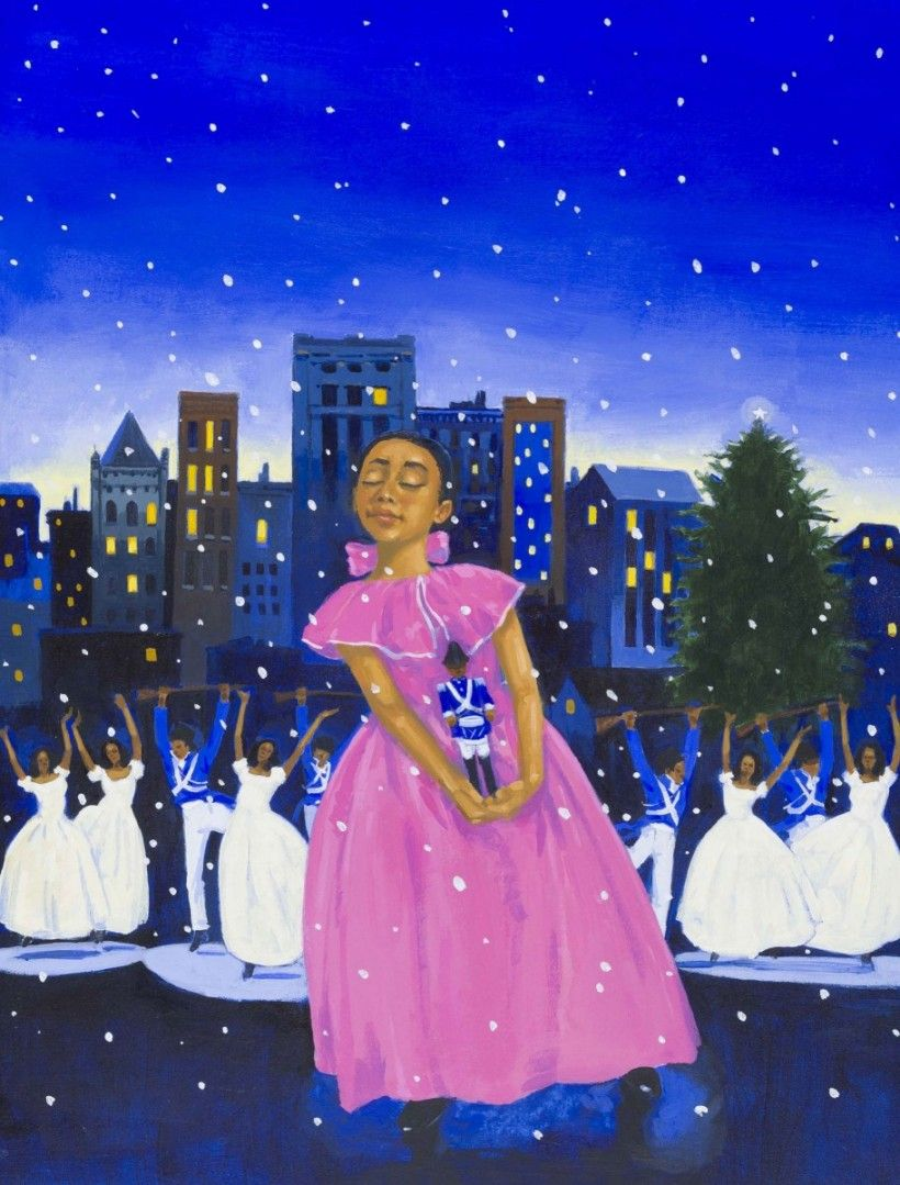 James Ransome, b. 1961, Cover illustration for The Nutcracker in Harlem, 2017, Mixed medium, 15 1/2 x 15 inches, Collection of the artist