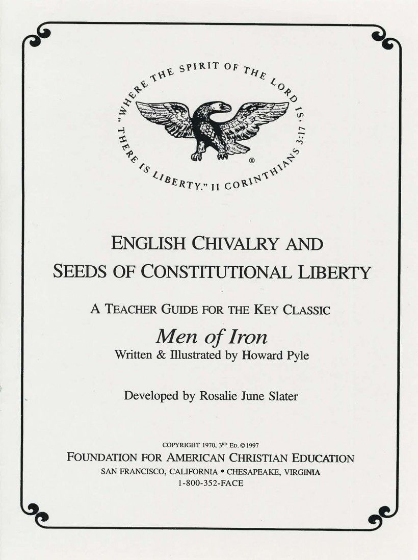A copy of the Foundation for American Christian Education's teacher guide (1997).