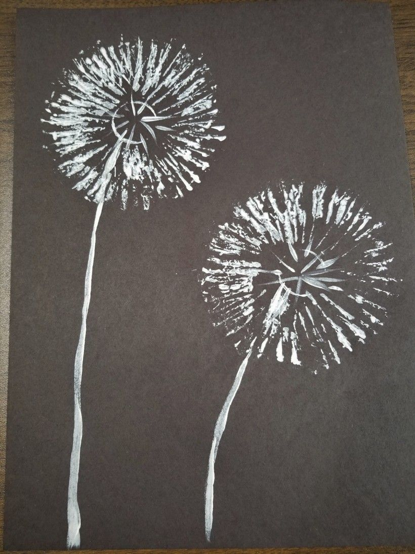 Dandelion and Firework painting