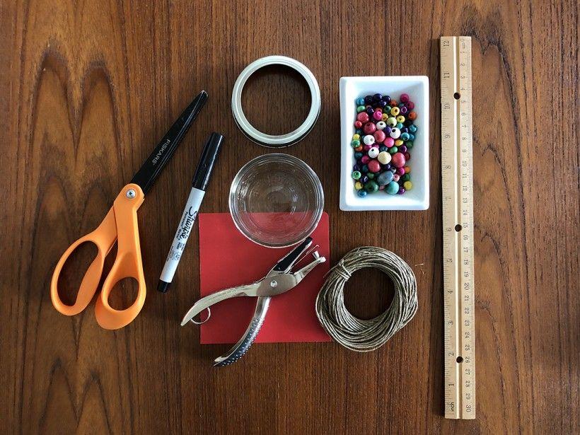 DIY Hummingbird Feeder supplies