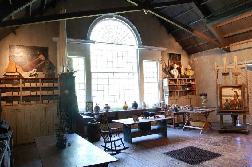 N.C. Wyeth Studio - Large window and studio props