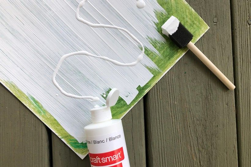white paint over crayon