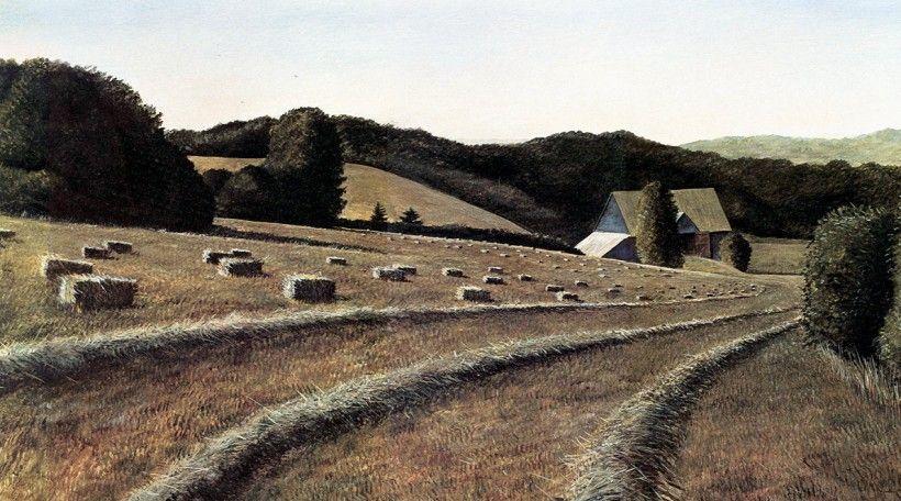 Karl J. Kuerner  (b. 1957). First Cutting, circa 1991, Acrylic on panel