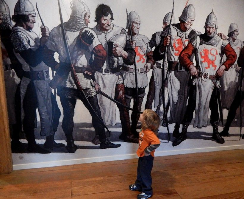 kid with knights