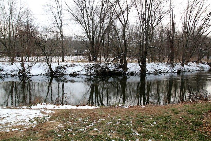 brandywine river in winter