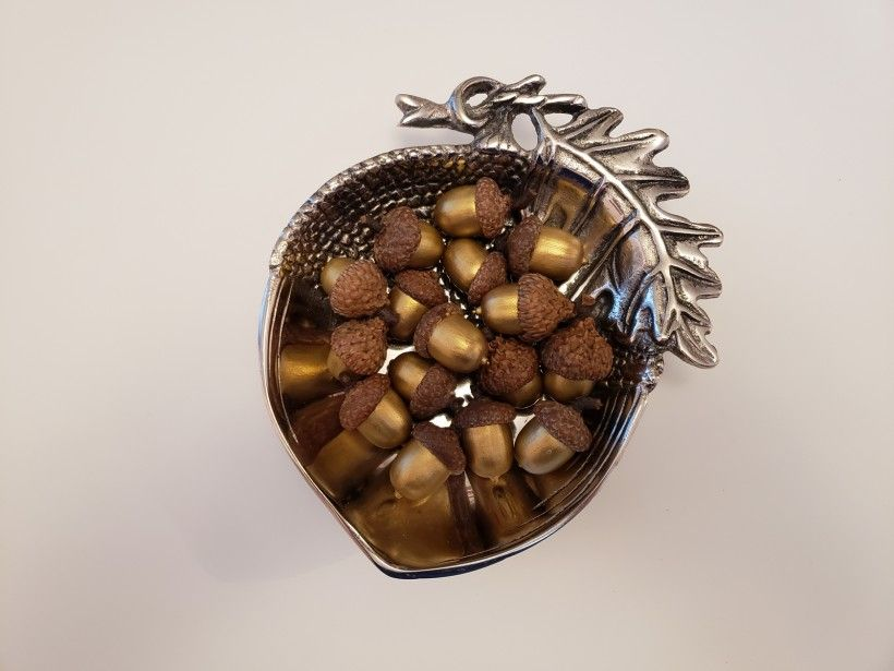 bowl of acorns