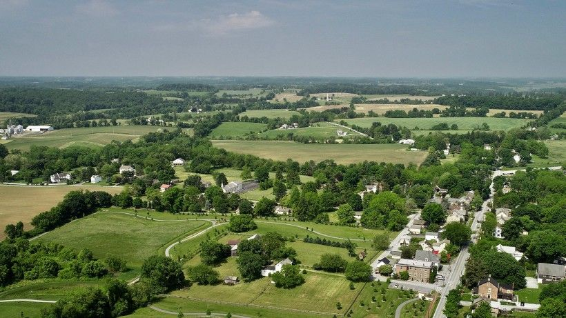 aerial photo of a landscape