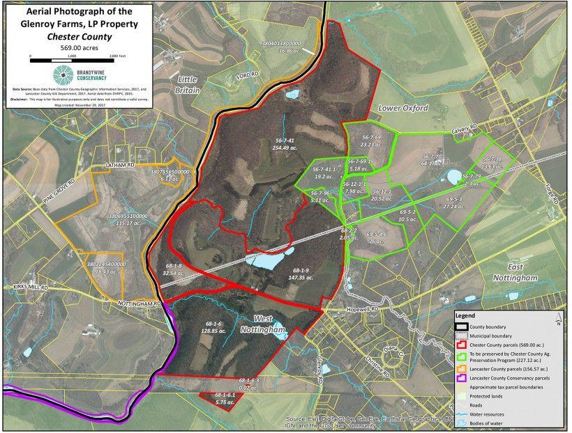 Glenroy Farms map of lands