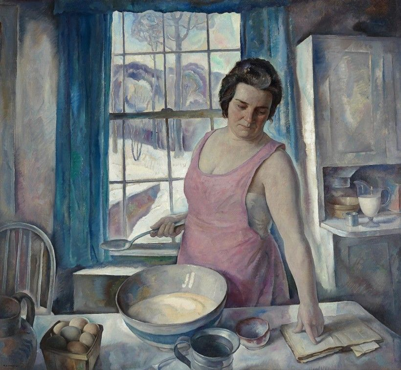 N. C. Wyeth, The Recipe Book, 1933. Oil on canvas, 48 1/8 × 52 1/8 in. Bequest of Carolyn Wyeth, 1996
