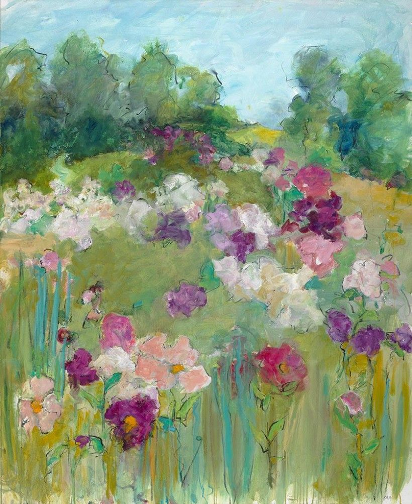 Mary Page Evans (b.1937), Peonies in June, 2013, Oil on canvas, 54 × 44 in. Gift of Page and John Corey, 2020. © Mary Page Evans