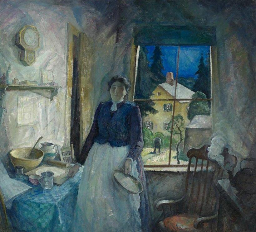 N. C. Wyeth (1882 - 1945), My Mother, 1929, oil on canvas, 36 1/4 × 40 1/4 in. Bequest of Carolyn Wyeth, 1996