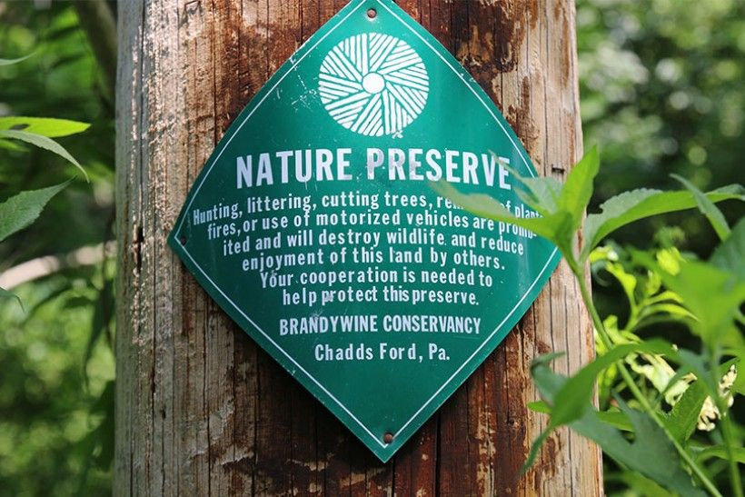 nature preserve sign