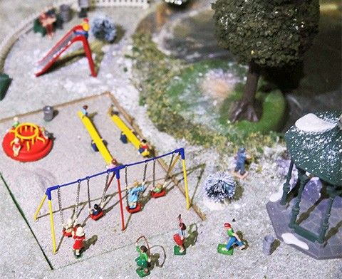 New animated playground in our A Brandywine Christmas for 2016's holiday train display