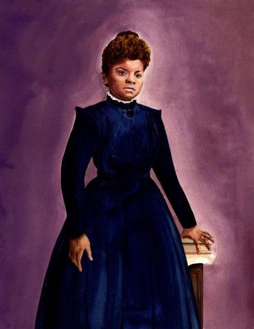 Ida B. Wells portrait by Shadra Strickland