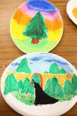 Oil Pastel plates