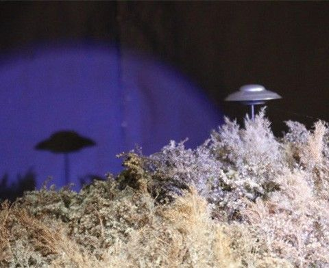 A UFO new to our A Brandywine Christmas train display for 2016