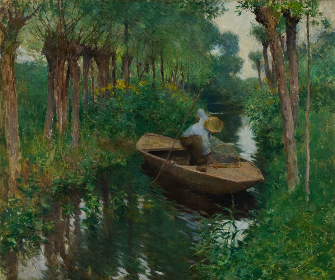 Willard Metcalf, On the River (The Eel Trap), ca. 1888