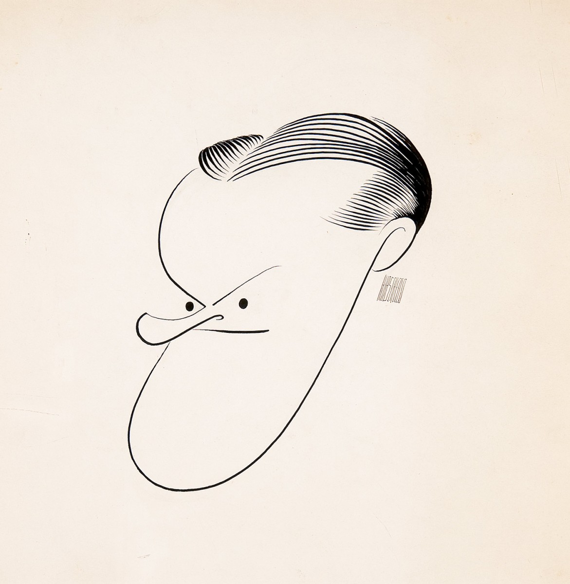 Al Hirschfeld (1903-2003), Bob Hope, 1940s, Ink on paper, Museum purchase, 2010