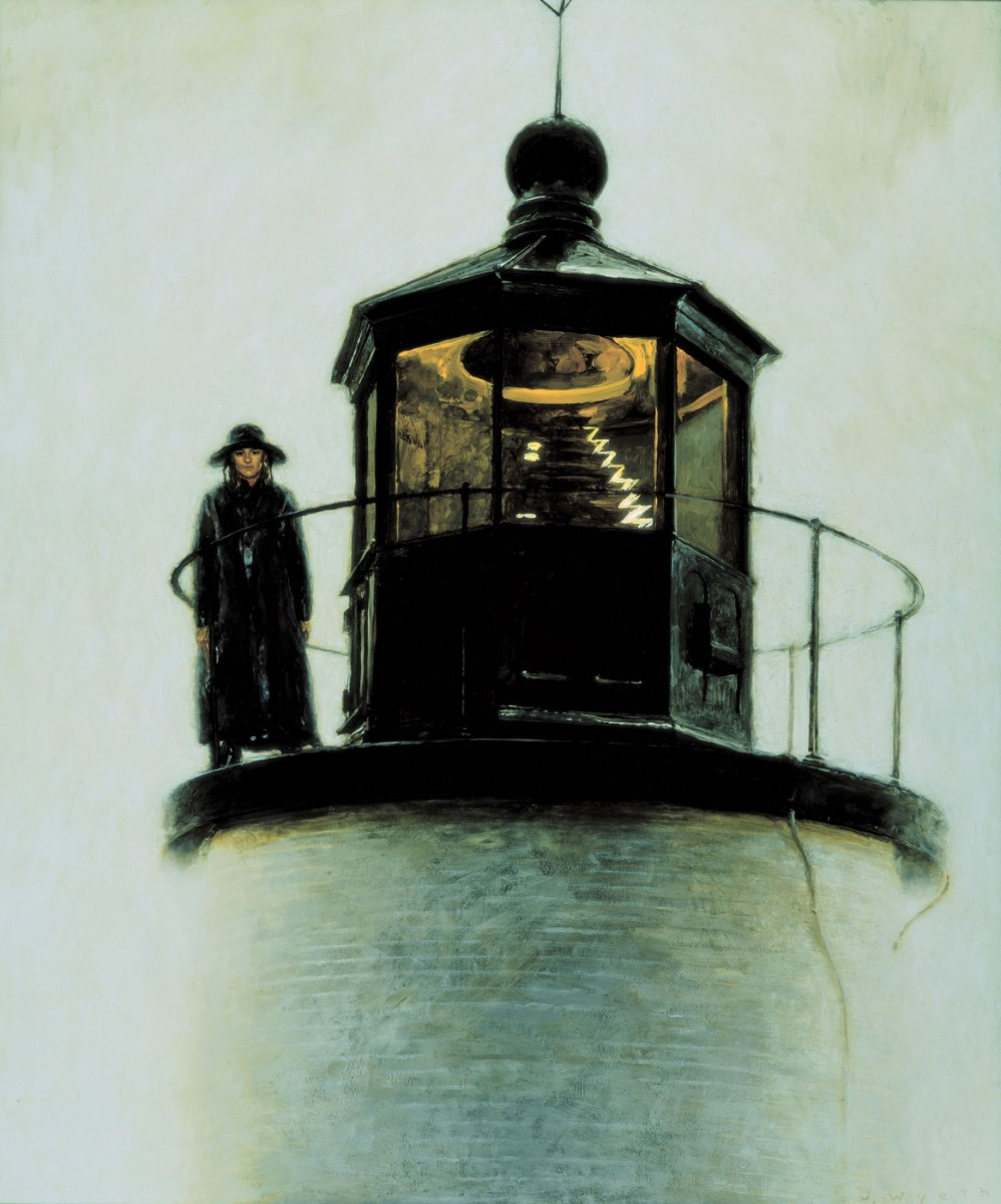 Jamie Wyeth (b. 1946), Light Station, 1992, Enamel and oil on panel, 36 x 30 in., Private Collection