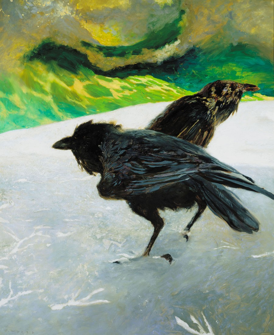 Jamie Wyeth (b. 1946), Saltwater Ice, 1997, Oil on board, 36 x 30 in., Private Collection