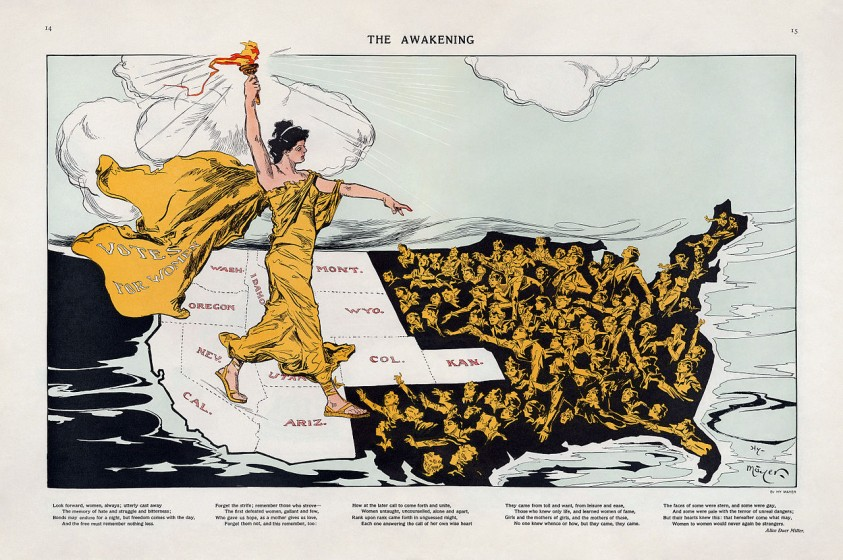 Henry Mayer, The Awakening, published in Puck February 20, 1915. Image courtesy Library of Congress.