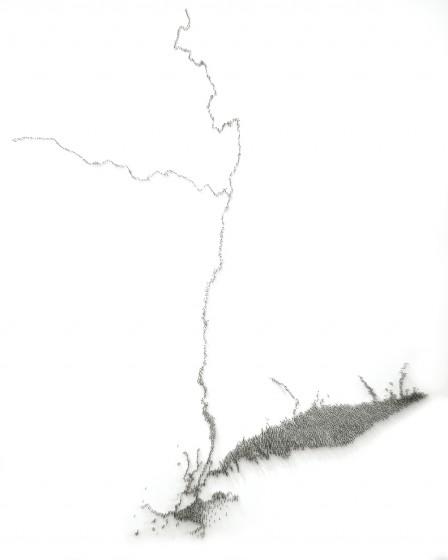 Maya Lin, Pin River - Hudson, 2009