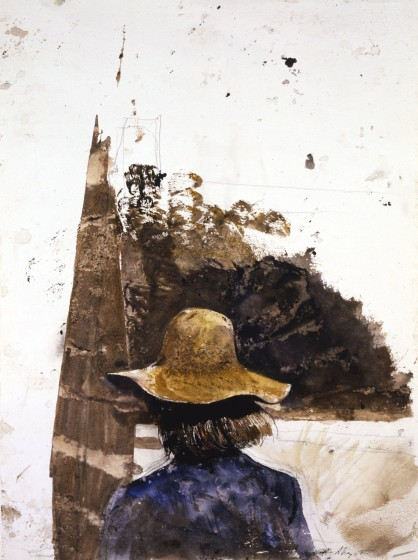 Andrew Wyeth (1917–2009), 747 Study, 1980 watercolor on paper. The Andrew and Betsy Wyeth Collection
