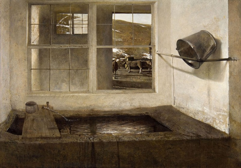 Andrew Wyeth (1917-2009). Spring Fed, 1968, tempera. © 2017 Andrew Wyeth / Artists Rights Society (ARS). Mr. and Mrs. W. D. Weiss