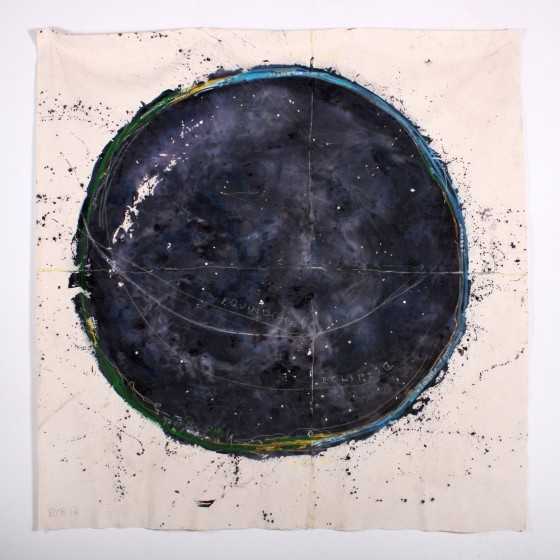 Untitled Planisphere (Mexico), 2017 8x8ft mixed media on canvas