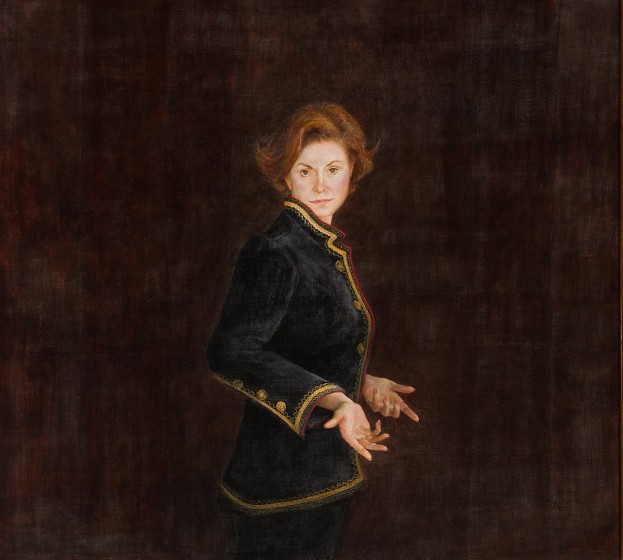 George A. Weymouth (1936-2016), Mrs. Battle, 1991, Egg tempera on panel, Anonymous gift, 2001