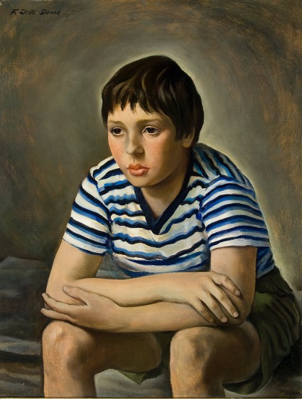 Frank Delle Donne (1919-2007), Portrait of Peter, n.d., Oil on board, Bequest of Francesco J. Delle Donne, 2008