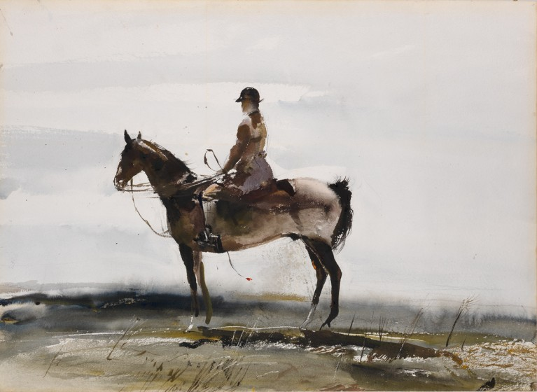Andrew Wyeth  (1917-2009), Master of the Hounds, 1949, Watercolor on paper, Gift of E. I. du Pont de Nemours and Company in honor of the 50th Anniversary of the Brandywine Conservancy & Museum of Art, 2017
