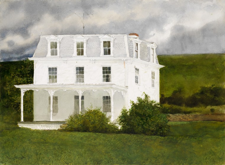 Jamie Wyeth (b. 1946), White House, 1965, Watercolor on paper, Gift of E. I. du Pont de Nemours and Company in honor of the 50th Anniversary of the Brandywine Conservancy & Museum of Art, 2017