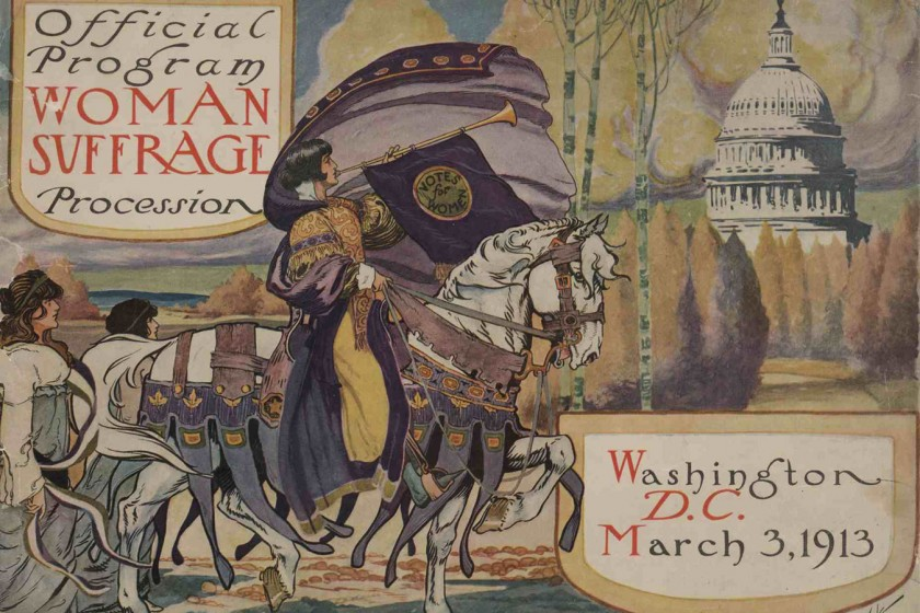 Official Program, Women's Suffrage Demonstration in Washington, D.C., 1913. Image courtesy of Library of Congress.