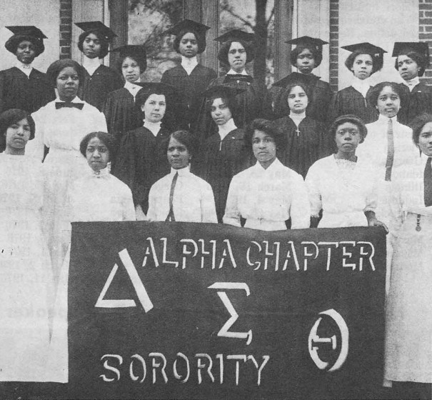 Delta Sigma Theta Sorority, 1913. Image courtesy of the Howard University Magazine.
