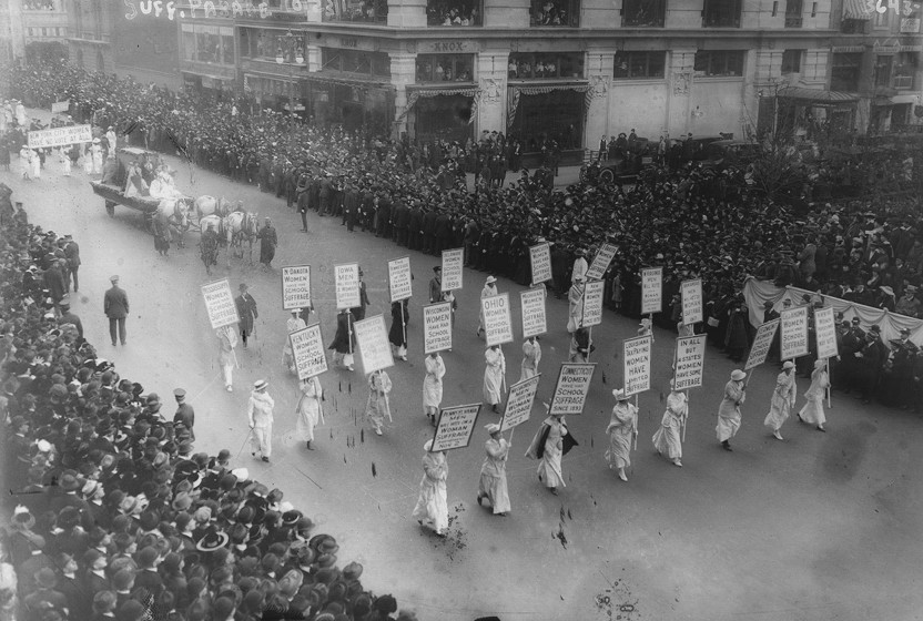 New York City Suffrage March, 1913. Image courtesy of the Library of Congress.