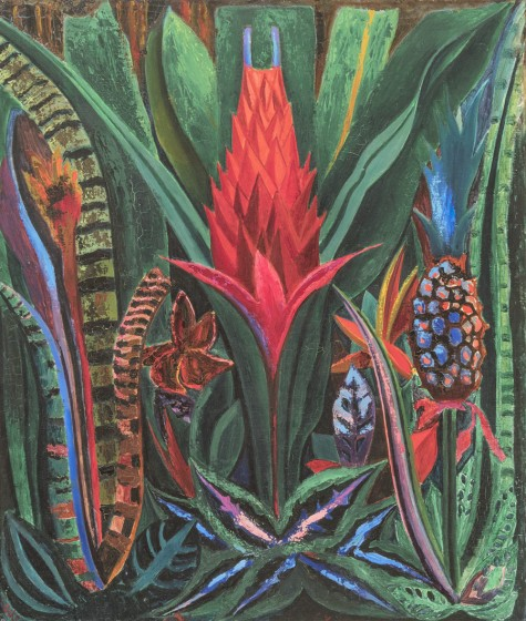 Tropical Flower, 1920s, Oil on canvas, 25 ½ x 21 ½ in. Private Collection. Image Courtesy Joshua Nefsky / Menconi + Schoelkopf Fine Art, LLC